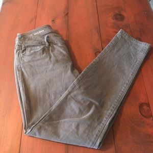 Taupe colored jeans